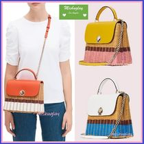 【kate spade】romyかごバッグ★wicker medium top handle bag★