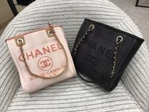Chanel♡Deauville Small Tote Bag♡L.Pink/Black