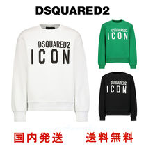 D SQUARED2(ディースクエアード) キッズ用トップス 新作★ DSQUARED2 長袖  ロゴスエット 大人もOK 4Y-16Y