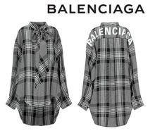 [関税・送料込] BALENCIAGA☆Checked shirt