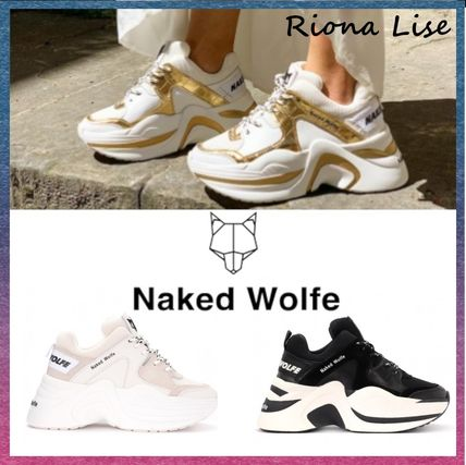 Naked Wolfe スニーカー 関送込★Naked Wolfe TRACK ダッドスニーカー厚底ジジ愛用 Gold