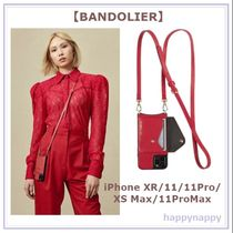 【BANDOLIER】iPhone 11/11Pro/11ProMaxケース Donna RED/GOLD
