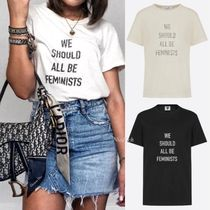 "☆Dior☆""We Should All Be Feminists"" プリント入り*Tシャツ"