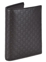 Gucci★素敵!Brown Leather Micro GG Passport Holder
