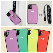 ★AIGHT★パステル ipone Case+Neck strap+Smart Ring/4色