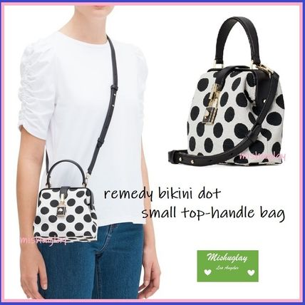 kate spade new york ハンドバッグ 【kate spade】可愛いドット★remedy small top-handle bag★(6)
