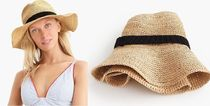J.CREW☆Wide-brim packable straw ストローハット 帽子 送料込