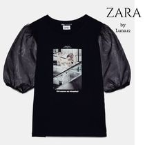 NEW ZARA♡BLESSURES D'AMOUR プリント柄Tシャツ