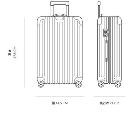 RIMOWA スーツケース 【2018】ESSENTIAL/Check-In M/4,1KG/60L/GLOSS(7)