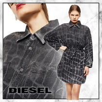 ◆DIESEL 20SS 最新作◆D-PINKIES-SPクロコ柄シャツワンピース◆