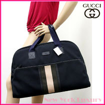 GUCCI★グッチ★素敵!NAVY Boston Bag With Web