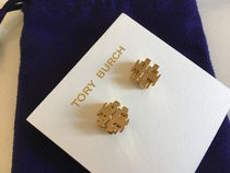 Tory Burch SMALL T LOGO STUD EARRING セール 即発送