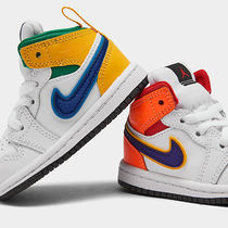 幼児用かわいい!Nike Baby AIR JORDAN 1 MID RETRO BASKETBALL