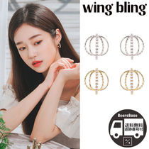 wing bling GOLDLADY EARRING BBM329 追跡付
