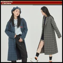 ☆ROMANTIC CROWN☆ FRIDAY THREE BUTTON CHECK COAT