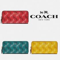 【COACH】SLIM ACCORDION ZIP WALLET 馬車プリント長財布 F87926