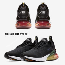 NIKE★AIR MAX 270 SE★BLACK/BLACK/LASER ORANGE