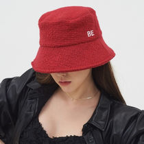 BE BORN OF 韓国アイドル着用 Boucle Bucket Hat (Red)