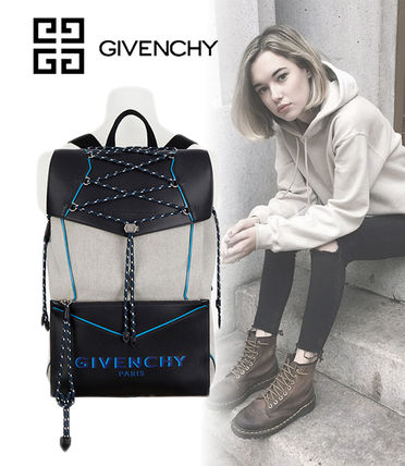 GIVENCHY バックパック・リュック 【GIVENCHY】2020SS*レザー&キャンバス ボンド バックパック