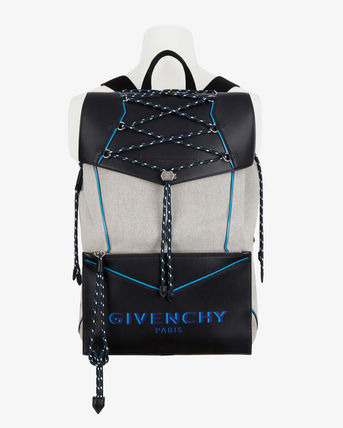 GIVENCHY バックパック・リュック 【GIVENCHY】2020SS*レザー&キャンバス ボンド バックパック(2)