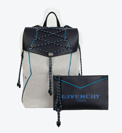 GIVENCHY バックパック・リュック 【GIVENCHY】2020SS*レザー&キャンバス ボンド バックパック(6)