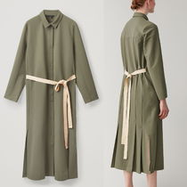 """""""COS"""" BELTED BUTTON-UP DRESS KHAKI"""