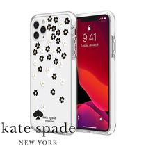 【kate spade】 キラキラ花柄 iPhone 11/Pro/Max ケース Flowers