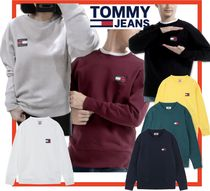 19AW☆TOMMY JEAN☆バッジ ロゴ トレーナー 7色 兼用☆関税込