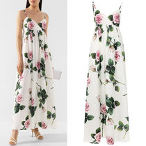 DG2243 TROPICAL ROSE PRINT LONGUETTE DRESS