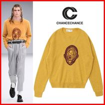 CHANCECHANCE(チャンスチャンス) スウェット・トレーナー ★CHANCECHANCE★FACE EMBROIDERED KNIT SWEATER☆正規品☆