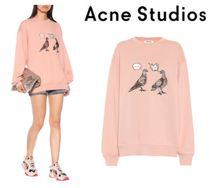 [関税・送料込] Acne Studios☆Embroidered cotton sweatshirt