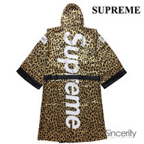 SUPREME EVERLAST SATIN HOODED BOXING ROBE / LEOPARD / SMALL