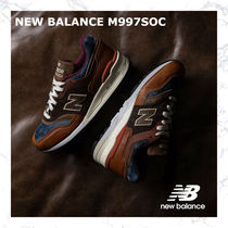 お早めに! NEW BALANCE M997SOC - BROWN LEATHER/BLUE DENIM