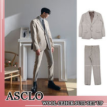 ASCLO★韓国の人気★WOOL CEHCK SUIT SET UP