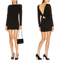 WSL1644 CREPE MINI DRESS WITH KNOT DETAIL