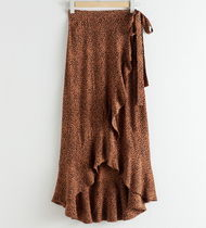 "& Other Stories(アンドアザーストーリーズ) スカート ""& Other Stories"" Ruffle Wrap Maxi Skirt Dot/Leopard"