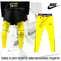 【大人気コラボ!!】NIKE X OFF-WHITE NRG RUNNING TIGHTS-YELLOW