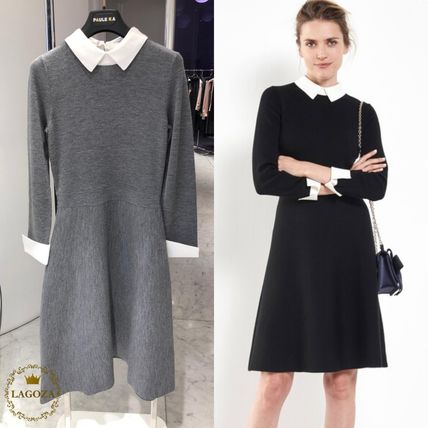 Paule Ka ワンピース 20SS★PAULE KA★Half length merinos dress
