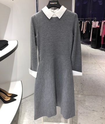 Paule Ka ワンピース 20SS★PAULE KA★Half length merinos dress(7)
