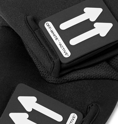 Off-White 手袋 Off-White オフホワイト Active Stretch-Jersey and Mesh Gloves(3)