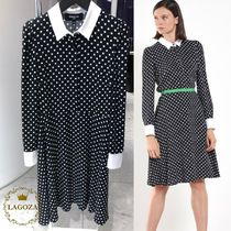 Paule Ka(ポールカ) ワンピース 20SS★PAULE KA★Half length polka dotted dress