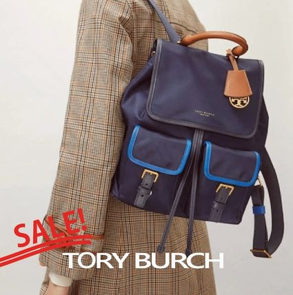 Tory Burch バックパック・リュック SALE『Tory Burch』Perry★カラーブロックナイロンバックパック