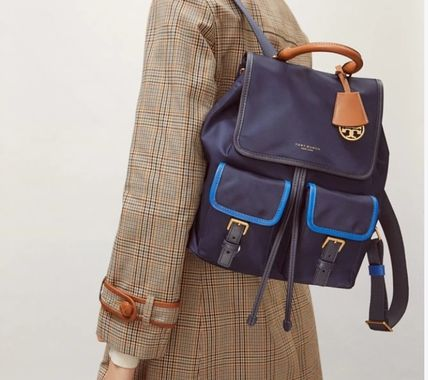 Tory Burch バックパック・リュック SALE『Tory Burch』Perry★カラーブロックナイロンバックパック(6)