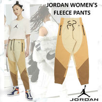 【完売必須!!】JORDAN WOMEN'S FLEECE PANTS - GOLD/BEIGE/BLACK