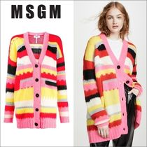 【在庫◎】MSGM STRIPED OVERSIZED CARDIGAN 2742MDM232