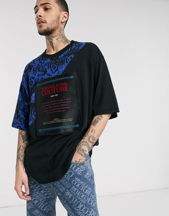 VERSACE JEANS トップスその他 Versace Jeans Couture oversized t-shirt with baroque print