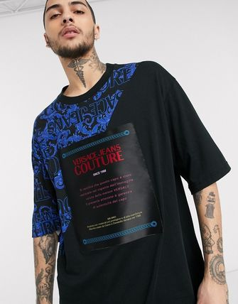VERSACE JEANS トップスその他 Versace Jeans Couture oversized t-shirt with baroque print(3)