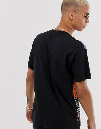 VERSACE JEANS トップスその他 Versace Jeans Couture oversized t-shirt with floral print(2)