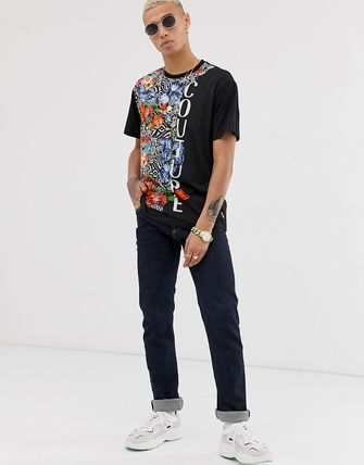 VERSACE JEANS トップスその他 Versace Jeans Couture oversized t-shirt with floral print(4)