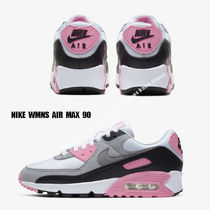 NIKE★WMNS AIR MAX 90★WHITE/PARTICLE GREY/ROSE/BLACK